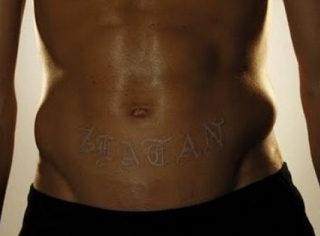 zlatan ibrahimovic tattoo stomach
